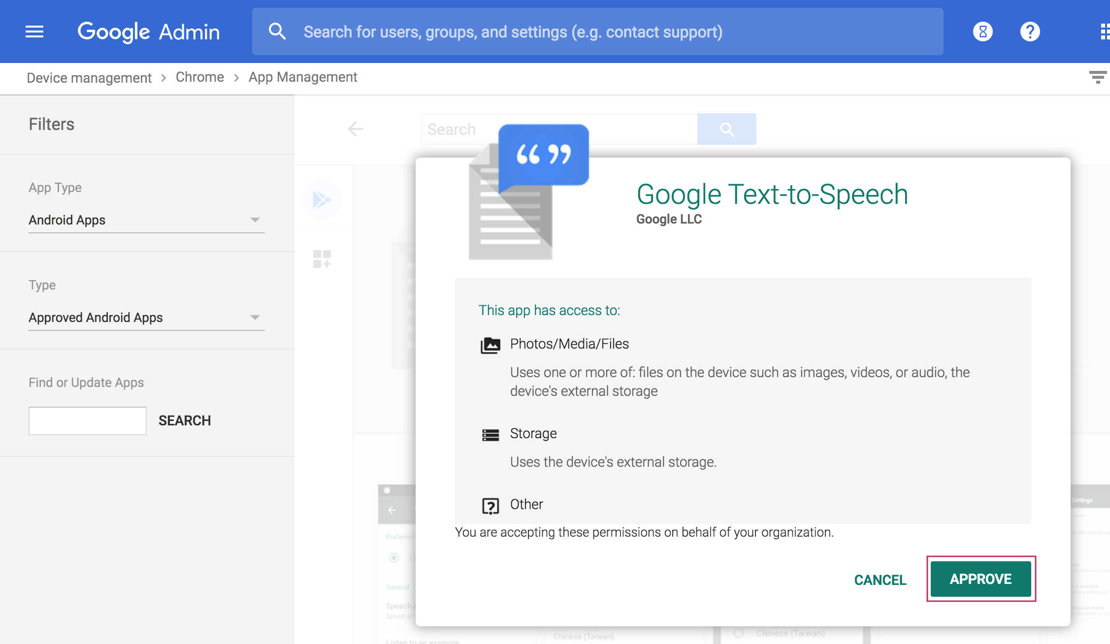 Add Text-to-speech languages on Chromebooks with managed